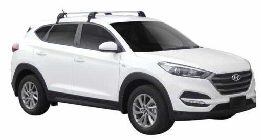 Whispbar Dakdragers (Black) Hyundai Tucson 5dr SUV met Glad dak bouwjaar 2015 - e.v. Complete set dakdragers