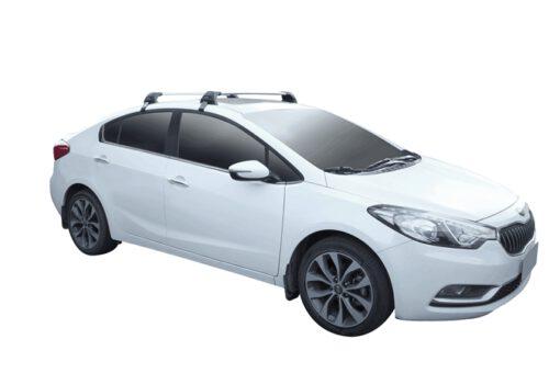 Whispbar Dakdragers (Black) Kia Cerato 4dr Sedan met Glad dak bouwjaar 2013 - 2016 Complete set dakdragers