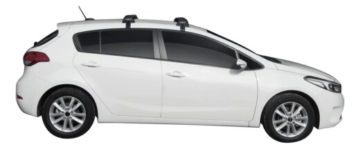 Whispbar Dakdragers (Black) Kia Cerato 5dr Hatch met Glad dak bouwjaar 2016 - e.v.|Complete set dakdragers