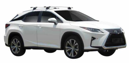 Whispbar Dakdragers (Zilver) Lexus RX Steel Roof 5dr SUV met Geintegreerde rails bouwjaar 2016 - e.v.|Complete set dakdragers