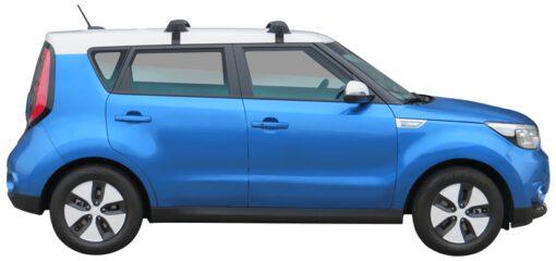 Whispbar Dakdragers (Black) Kia Soul EV 5dr Hatch met Glad dak bouwjaar 2014 - e.v. Complete set dakdragers