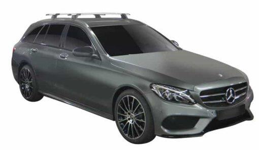 Whispbar Dakdragers (Zilver) Mercedes-Benz C-Class 5dr Estate met Geintegreerde rails bouwjaar 2014 - e.v.|Complete set dakdragers