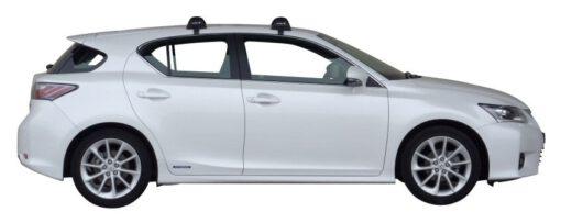 Whispbar Dakdragers (Black) Lexus CT 200h 5dr Hatch met Glad dak bouwjaar 2011 - 2013 Complete set dakdragers