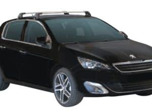 Whispbar Dakdragers (Black) Peugeot 308 5dr Hatch met Glad dak bouwjaar 2014 - e.v.|Complete set dakdragers