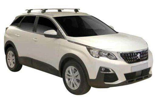 Whispbar Dakdragers (Zilver) Peugeot 3008 5dr SUV met Geintegreerde rails bouwjaar 2016 - e.v. Complete set dakdragers