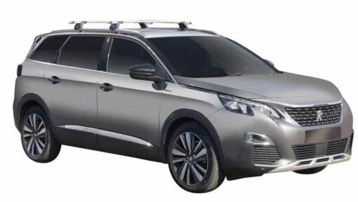Whispbar Dakdragers (Zilver) Peugeot 5008 5dr SUV met Geintegreerde rails bouwjaar 2017 - e.v.|Complete set dakdragers