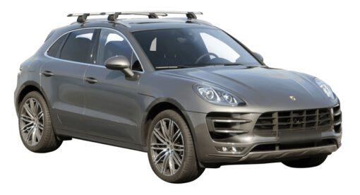 Whispbar Dakdragers (Zilver) Porsche Macan 5dr SUV met Geintegreerde rails bouwjaar 2014 - e.v. Complete set dakdragers