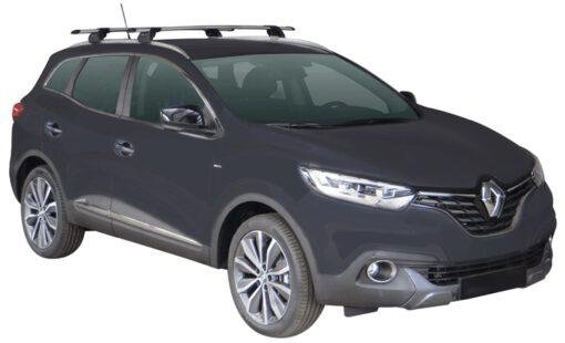 Whispbar Dakdragers (Zilver) Renault Kadjar 5dr SUV met Geintegreerde rails bouwjaar 2015 - e.v. Complete set dakdragers