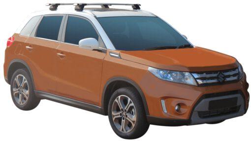 Whispbar Dakdragers (Zilver) Suzuki Vitara 5dr SUV met Geintegreerde rails bouwjaar 2015 - e.v.|Complete set dakdragers