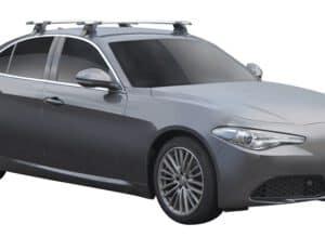 Whispbar Dakdragers (Zilver) Alfa Romeo Giulia 4dr Sedan met Glad dak bouwjaar 2016 - e.v.|Complete set dakdragers
