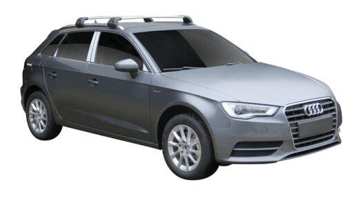 Whispbar Dakdragers (Zilver) Audi A3/S3/RS3 Sportback 5dr Hatch met Geintegreerde rails bouwjaar 2013 - 2016 Complete set dakdragers