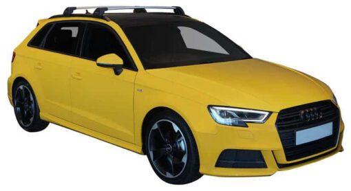 Whispbar Dakdragers (Zilver) Audi A3/S3/RS3 Sportback 5dr Hatch met Geintegreerde rails bouwjaar 2016 - e.v. Complete set dakdragers