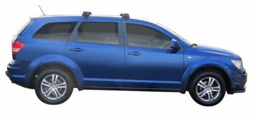 Whispbar Dakdragers (Zilver) Fiat Freemont 5dr SUV met Glad dak bouwjaar 2012 - e.v.|Complete set dakdragers