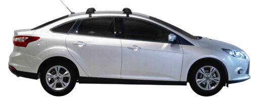 Whispbar Dakdragers (Zilver) Ford Focus 4dr Sedan met Glad dak bouwjaar 2011 - e.v. Complete set dakdragers