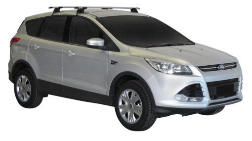 Whispbar Dakdragers (Zilver) Ford Kuga 5dr SUV met Glad dak bouwjaar 2013 - e.v. Complete set dakdragers