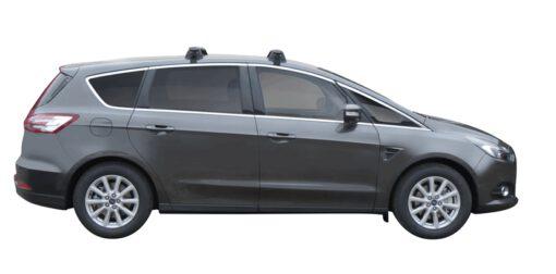 Whispbar Dakdragers (Zilver) Ford S-Max 5dr MPV met Glad dak bouwjaar 2015 - e.v. Complete set dakdragers