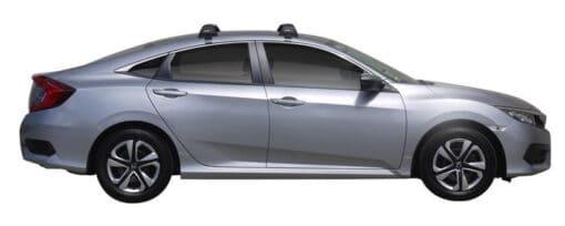 Whispbar Dakdragers (Zilver) Honda Civic 4dr Sedan met Glad dak bouwjaar 2017 - e.v. Complete set dakdragers