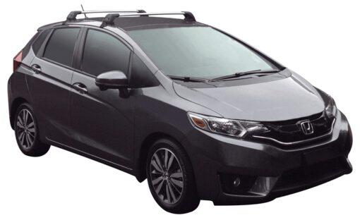 Whispbar Dakdragers (Zilver) Honda Jazz 5dr Hatch met Glad dak bouwjaar 2015 - e.v. Complete set dakdragers