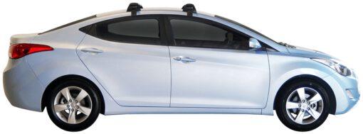 Whispbar Dakdragers (Zilver) Hyundai Elantra 4dr Sedan met Glad dak bouwjaar 2011 - 2015 Complete set dakdragers