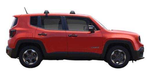 Whispbar Dakdragers (Zilver) Jeep Renegade Sport 5dr SUV met Glad dak bouwjaar 2015 - e.v.|Complete set dakdragers
