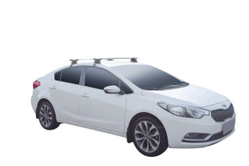 Whispbar Dakdragers (Zilver) Kia Cerato 4dr Sedan met Glad dak bouwjaar 2013 - 2016 Complete set dakdragers