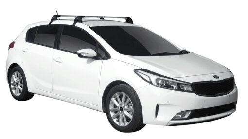 Whispbar Dakdragers (Zilver) Kia Cerato 5dr Hatch met Glad dak bouwjaar 2016 - e.v. Complete set dakdragers