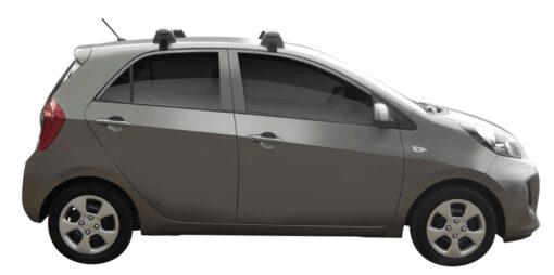 Whispbar Dakdragers (Zilver) Kia Picanto 5dr Hatch met Glad dak bouwjaar 2015 - 2017|Complete set dakdragers