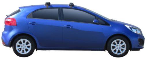 Whispbar Dakdragers (Zilver) Kia Rio 5dr Hatch met Glad dak bouwjaar 2011 - 2015 Complete set dakdragers