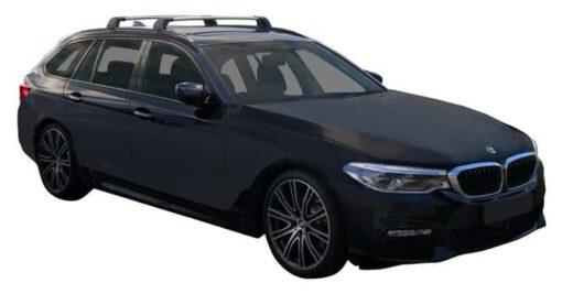 Whispbar Dakdragers (Zilver) BMW 5 Series G31 Touring 5dr Estate met Geintegreerde rails bouwjaar 2017 - e.v.|Complete set dakdragers