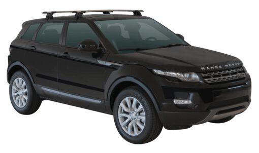 Whispbar Dakdragers (Zilver) Land Rover Range Rover Evoque 5dr SUV met Glad dak bouwjaar 2011 - e.v. Complete set dakdragers