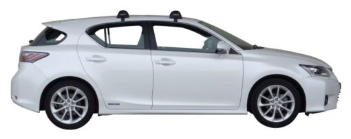 Whispbar Dakdragers (Zilver) Lexus CT 200h 5dr Hatch met Glad dak bouwjaar 2011 - 2013 Complete set dakdragers
