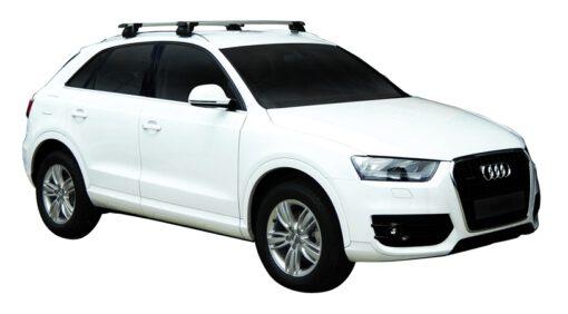 Whispbar Dakdragers (Zilver) Audi Q3/Q3 RS 5dr SUV met Geintegreerde rails bouwjaar 2012 - e.v.|Complete set dakdragers