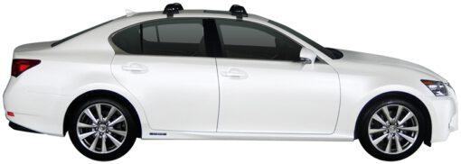 Whispbar Dakdragers (Zilver) Lexus GS 4dr Sedan met Glad dak bouwjaar 2012 - 2016|Complete set dakdragers