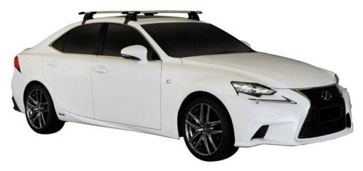 Whispbar Dakdragers (Zilver) Lexus IS 300H 4dr Sedan met Glad dak bouwjaar 2013 - e.v.|Complete set dakdragers