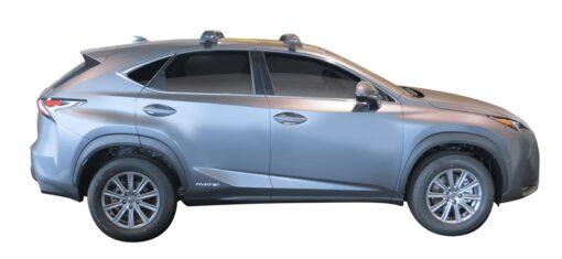 Whispbar Dakdragers (Zilver) Lexus NX 5dr SUV met Glad dak bouwjaar 2015 - e.v. Complete set dakdragers