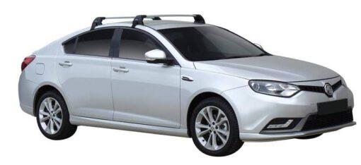 Whispbar Dakdragers (Zilver) MG 6 5dr Hatch met Glad dak bouwjaar 2015 - 2016|Complete set dakdragers