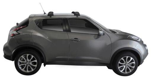 Whispbar Dakdragers (Zilver) Nissan Juke 5dr SUV met Glad dak bouwjaar 2015 - e.v. Complete set dakdragers