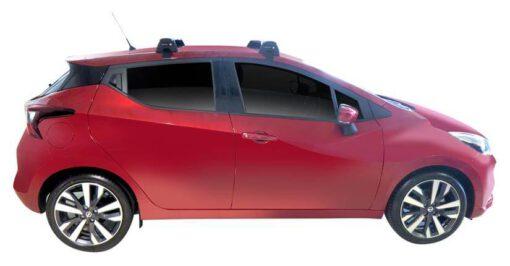 Whispbar Dakdragers (Zilver) Nissan Micra K13 5dr Hatch met Glad dak bouwjaar 2013 - 2017|Complete set dakdragers