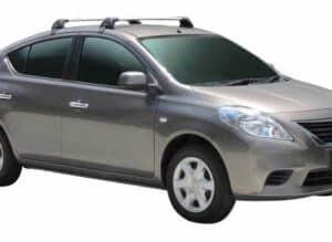Whispbar Dakdragers (Zilver) Nissan Versa 4dr Sedan met Glad dak bouwjaar 2012 - e.v. Complete set dakdragers