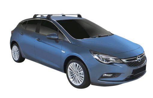Whispbar Dakdragers (Zilver) Opel Astra 5dr Hatch met Glad dak bouwjaar 2016 - e.v. Complete set dakdragers