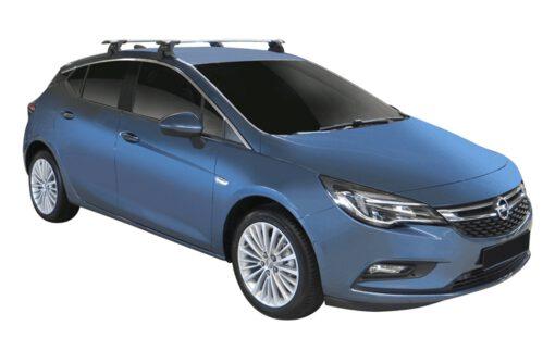 Whispbar Dakdragers (Zilver) Opel Astra 5dr Hatch met Glad dak bouwjaar 2016 - e.v.|Complete set dakdragers