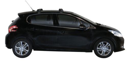 Whispbar Dakdragers (Zilver) Peugeot 208 5dr Hatch met Glad dak bouwjaar 2012 - e.v.|Complete set dakdragers