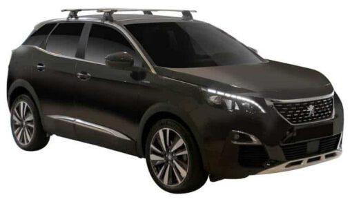 Whispbar Dakdragers (Zilver) Peugeot 3008 5dr SUV met Glad dak bouwjaar 2016 - e.v.|Complete set dakdragers