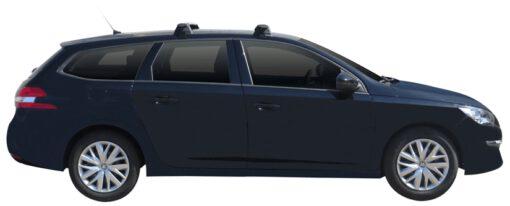 Whispbar Dakdragers (Zilver) Peugeot 308 SW 5dr Estate met Glad dak bouwjaar 2014 - e.v.|Complete set dakdragers