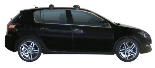 Whispbar Dakdragers (Zilver) Peugeot 308 5dr Hatch met Glad dak bouwjaar 2014 - e.v. Complete set dakdragers