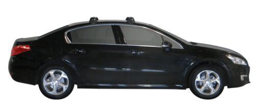 Whispbar Dakdragers (Zilver) Peugeot 508 4dr Sedan met Glad dak bouwjaar 2011 - e.v.|Complete set dakdragers
