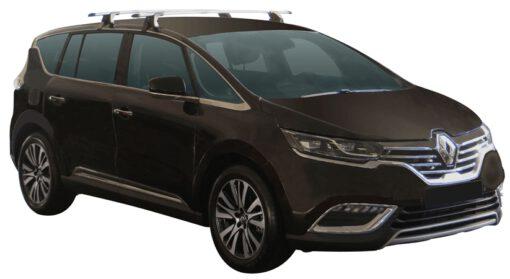 Whispbar Dakdragers (Zilver) Renault Espace 5dr MPV met Glad dak bouwjaar 2015 - e.v.|Complete set dakdragers