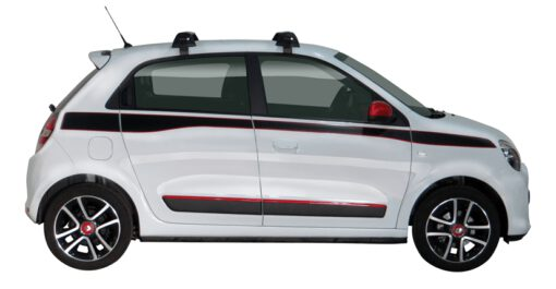 Whispbar Dakdragers (Zilver) Renault Twingo 5dr Hatch met Glad dak bouwjaar 2014 - e.v. Complete set dakdragers