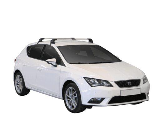 Whispbar Dakdragers (Zilver) Seat Leon 5dr Hatch met Glad dak bouwjaar 2012 - 2016|Complete set dakdragers