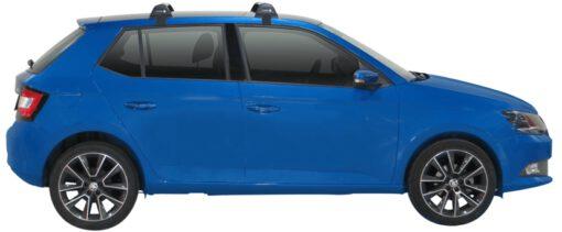 Whispbar Dakdragers (Zilver) Skoda Fabia 5dr Hatch met Glad dak bouwjaar 2015 - e.v. Complete set dakdragers